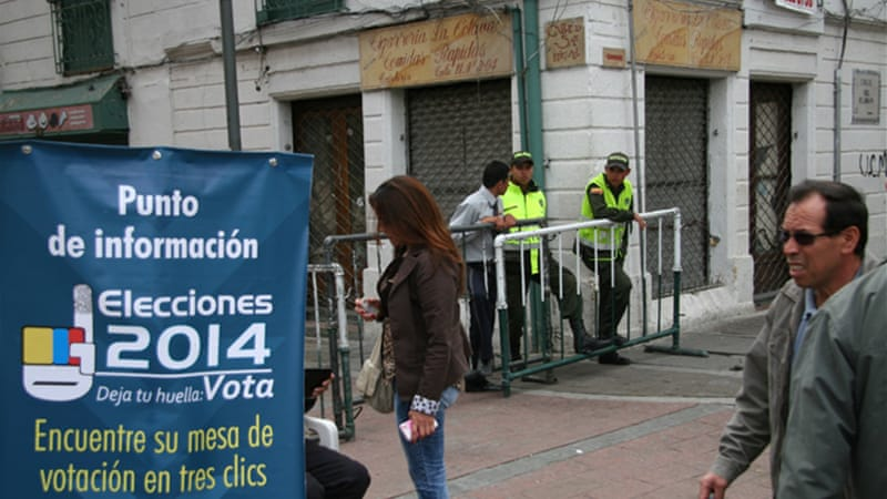 Thirty-three million Colombians were registered but voter turnout was less than 41 percent [Chris Arsenault/Al Jazeera]