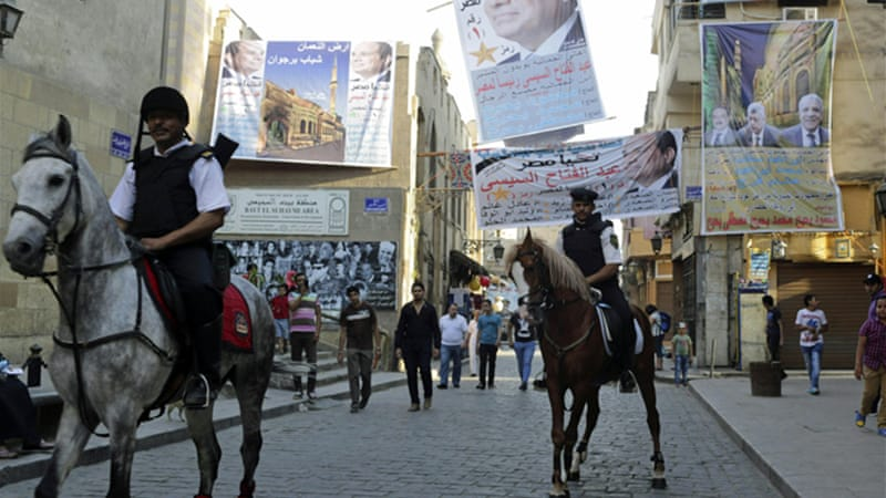 Sisi is expected to trounce his only rival, Hamdeen Sabbahi [Reuters]