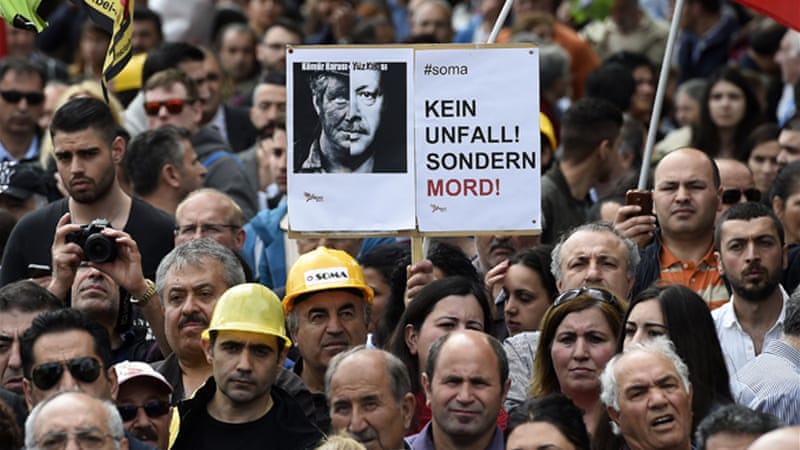 Some Turks have accused PM Erdogan of being responsible for the deadly accident at the Soma mine [Reuters]