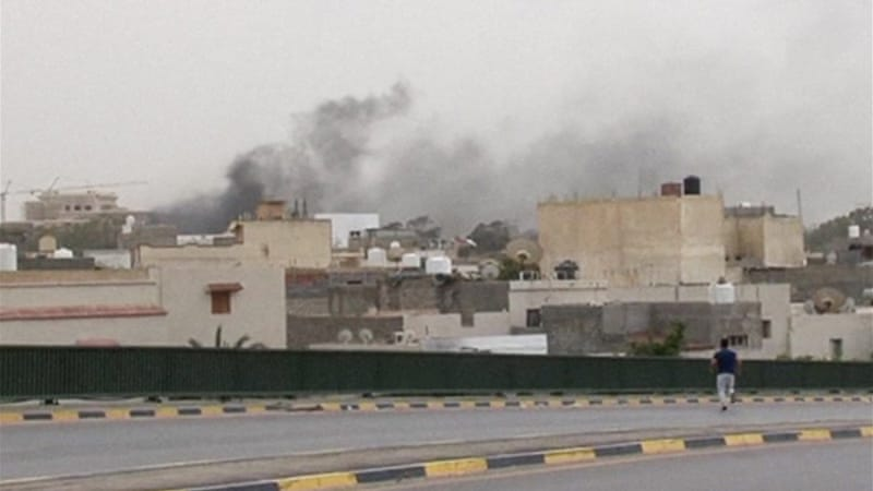 Two jets reportedly bombed a base in Benghazi belonging to the February 17th Brigade [AP]