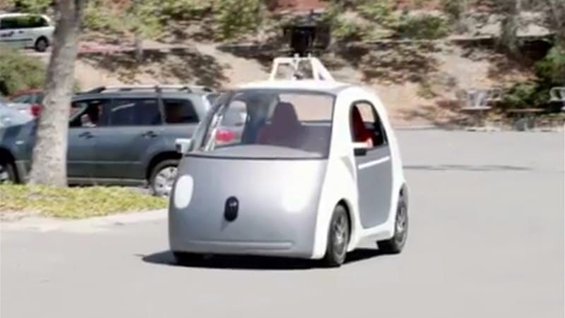 The car will be able to drive without any human input and has no steering wheel or control pedals [GOOGLE]