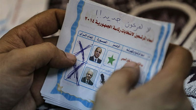 Sisi won 96.91 percent of the vote [AFP]