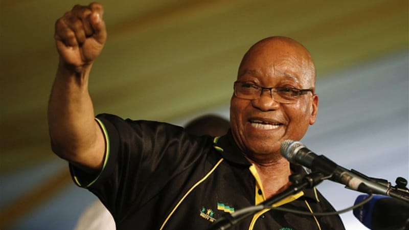 "President Zuma said he was ""ready to move South Africa forward"". [Reuters]"