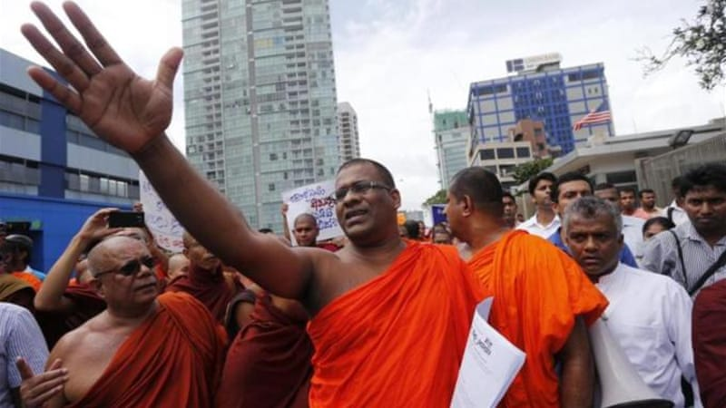 BBS leader Galagodaatte Gnanasara said that he and the three other monks were not guilty of any offence [AP]