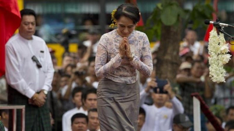 Democracy activists in Myanmar have joined  Aung San Suu Kyi in calling for constitutional amendments [AP]