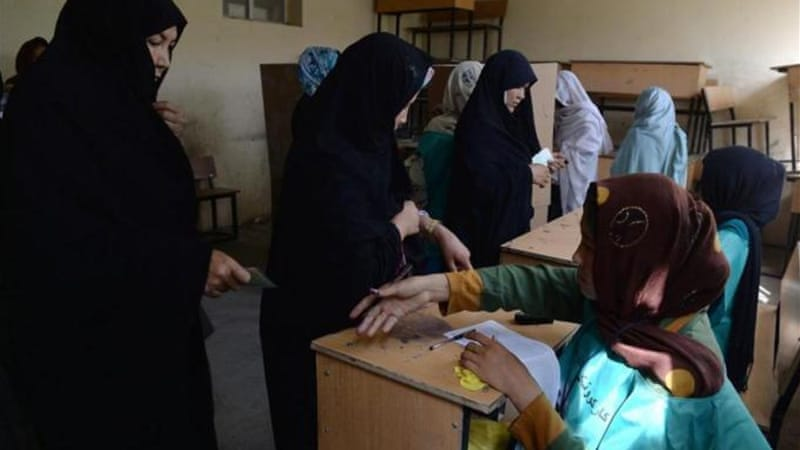 "The UN congratulated the ""courageous"" Afghans who  cast their ballots in the face of Taliban threats [AFP]"