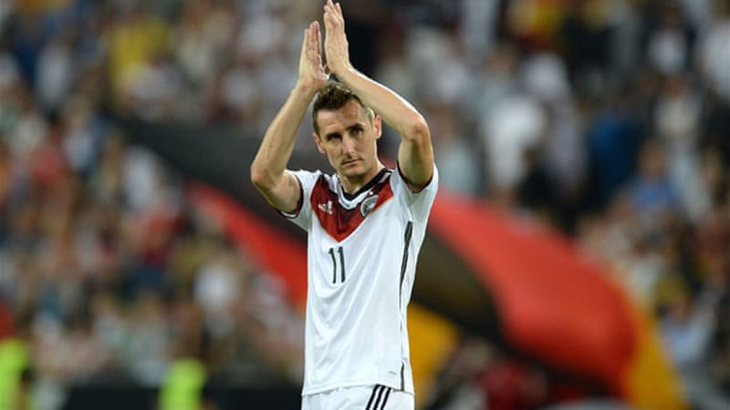 674c2873a Germany striker Miroslav Klose is one strike away from equalling a  tournament record of 15 goals