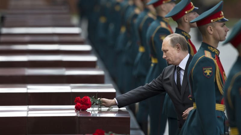 Putin's comments followed ceremonies marking the 73rd anniversary of the Nazi invasion of the Soviet Union [AP]