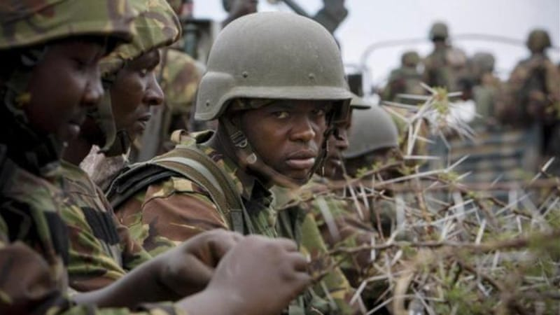 Soldiers from the AMISOM force launched a new offensive against al-Shabab fighters this year [AP]