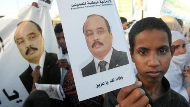 President Mohamed Ould Abdel Aziz was re-elected in a widely criticised vote last month [AFP]