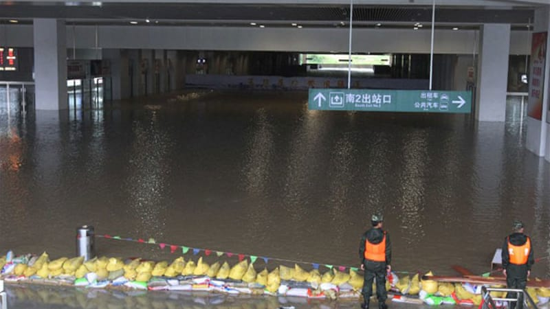 Parts of Guangxi suggest that some areas have seen exceptionally heavy rain in recent days. [AFP]