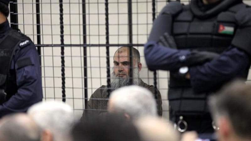 Abu Qatada will still remain in jail pending the results of one more trial scheduled for September [EPA]