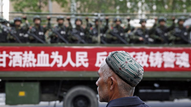 "Uighur activists blame government's ""religious repression"" for increased tensions in Xinjiang [Reuters]"