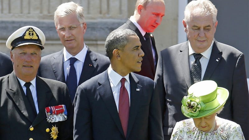 US President Obama and Russia's Vladimir Putin also talked at the sideline of the D-Day commemoration [Reuters]