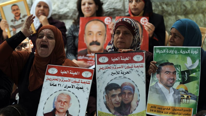 The Palestinian leadership has called for international intervention over the hunger strike [EPA]