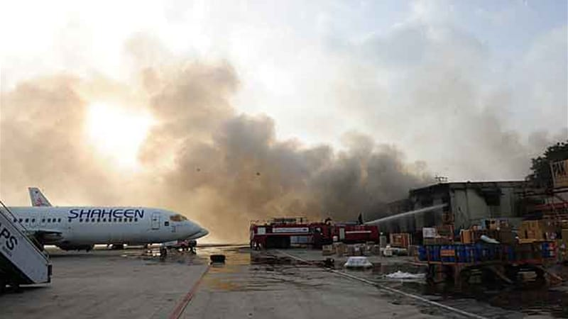 An assault on Karachi airport by Pakistani Taliban fighters early on Monday left 36 people dead [AFP]