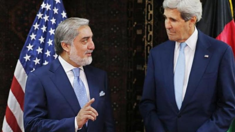 The US brokered an emergency deal with the two parties amid fears of civil war in Afghanistan [AP]
