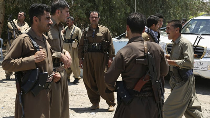 Kurdish Peshmerga forces have joined other security officials standing guard in Kirkuk [Reuters]