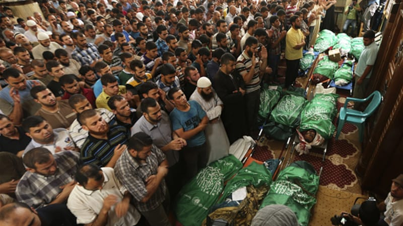 More than 165 Palestinians have been killed in Israel's ongoing assault of the Gaza Strip [Reuters]