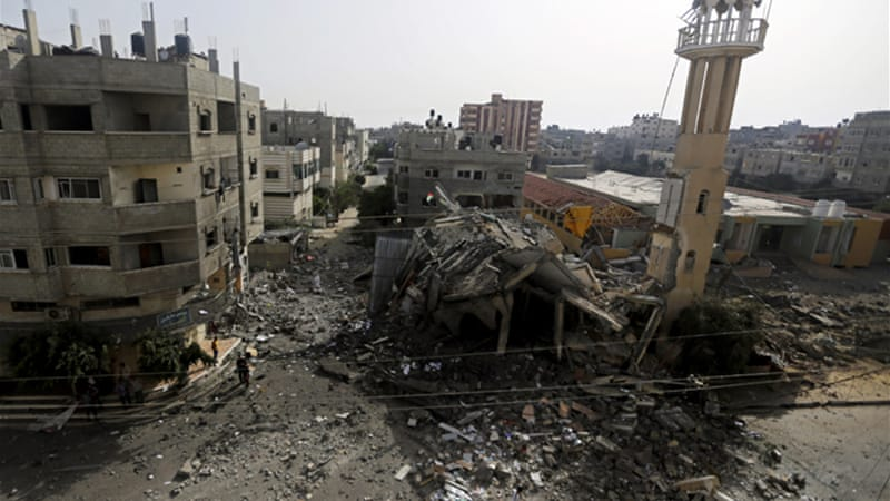 More than 165 Palestinians have been killed by Israeli air strikes on the Gaza Strip [AP]