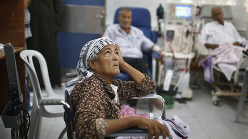 Elderly Palestinians and medical patients cannot be moved from medical centres in Gaza [Reuters]