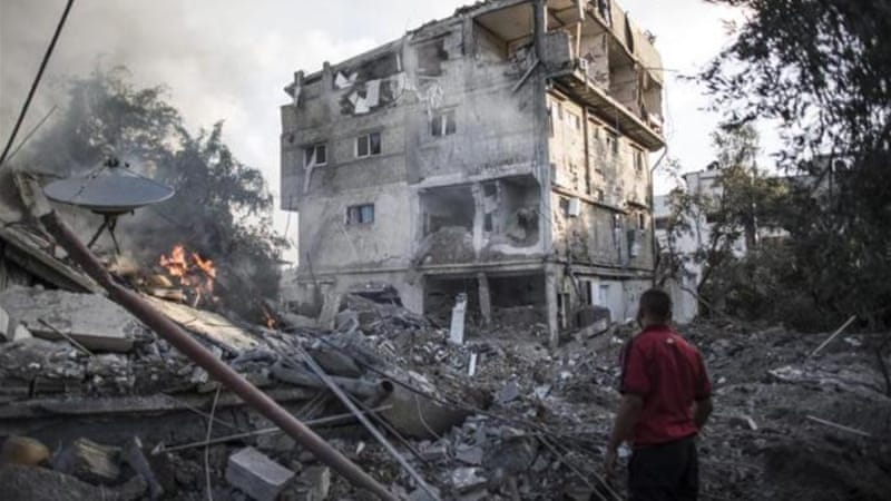Human Rights Watch called the destruction of civilian homes in the Gaza Strip a war crime [EPA]