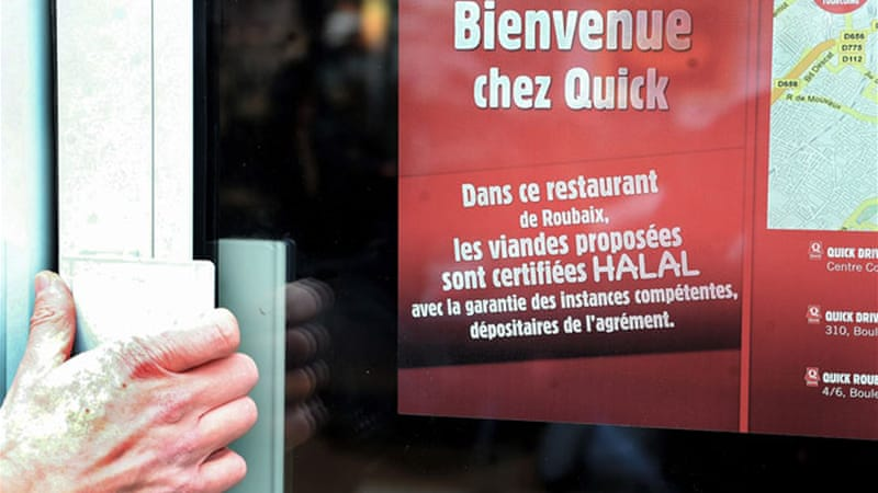 France's authorities argued that the halal meals would infringe on a ban of religious expression in public places [EPA]