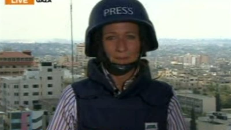 Al Jazeera's Stefanie Dekker said two shots were fired into the building where the network is located