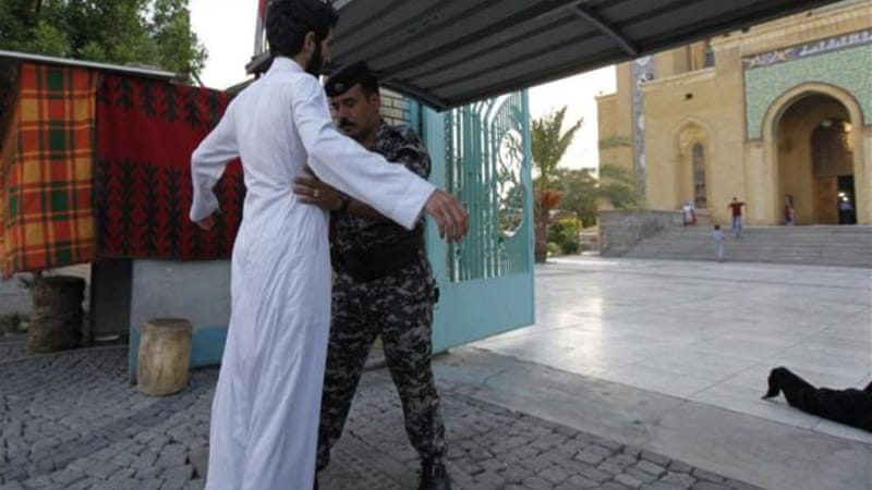 Security was stepped up in and around the Iraqi capital in the run-up to the  holiday of Eid al-Fitr [Reuters]