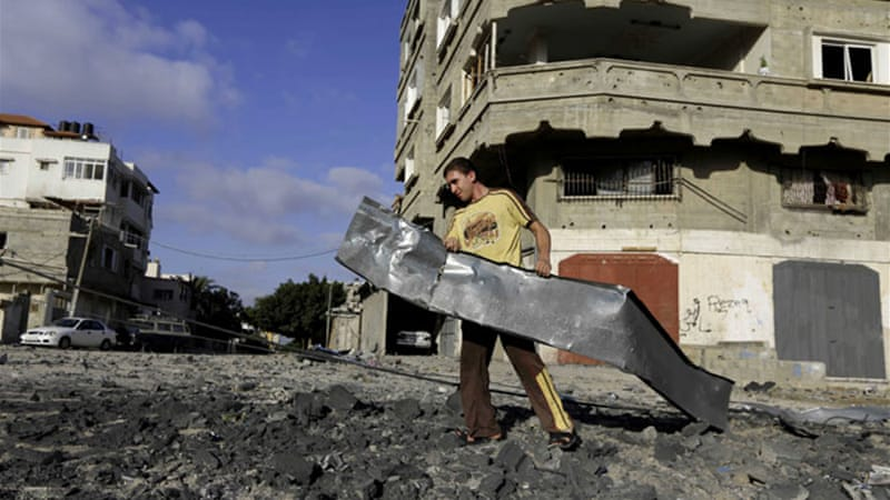 The pre-dawn raids came after nearly a dozen rockets struck southern Israel [AP]
