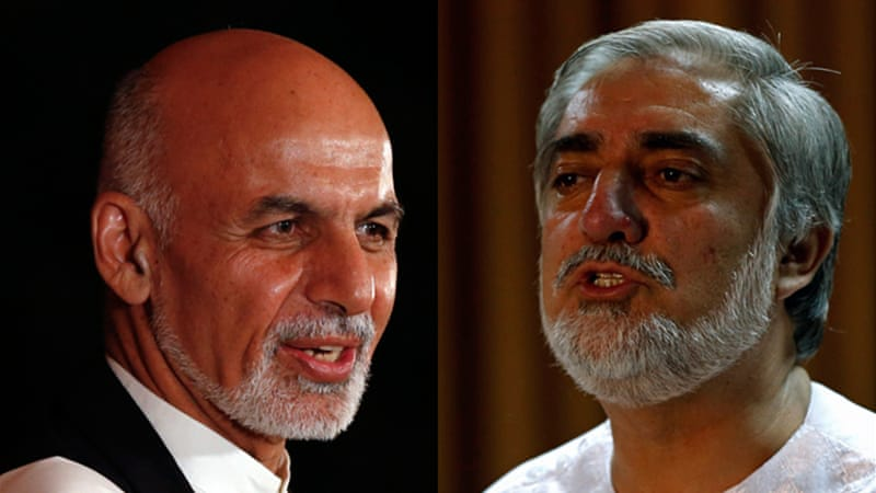 Ghani (left) and Abdullah have held talks in an effort to resolve the stand-off over the election results [Reuters]