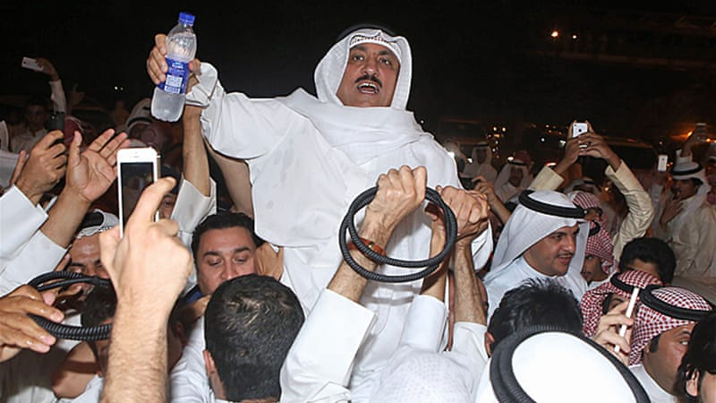 Former MP Barrak was released on Monday after being detained on July 2 for allegedly insulting the judiciary [AFP]