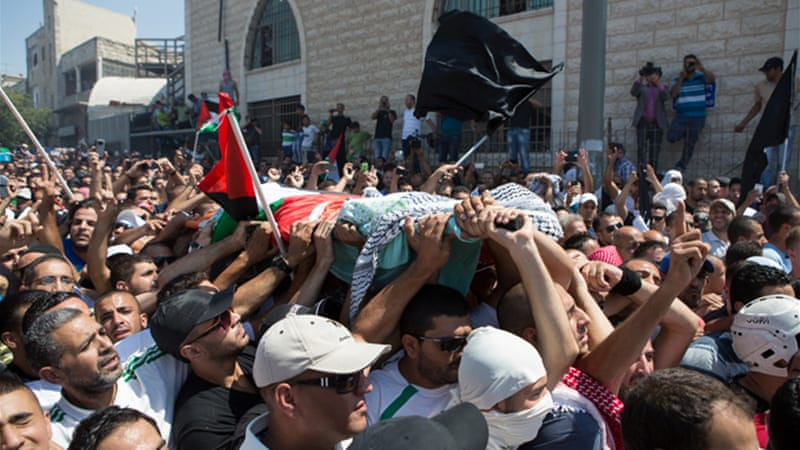 Protests have flared in anger over the killing of Palestinian teen Mohammed Abu Khdair [Dylan Collins/Al Jazeera]