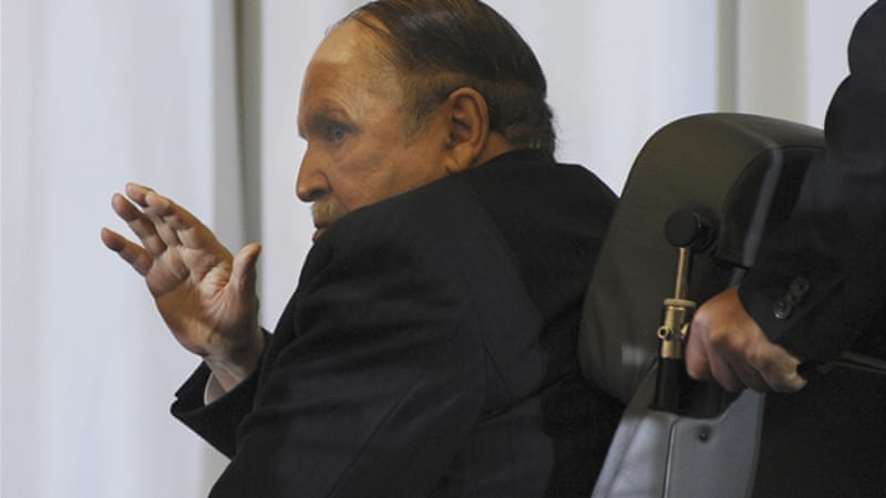 Even before the election, President Abdelaziz Bouteflika rarely chaired meetings or made public appearances [AP]