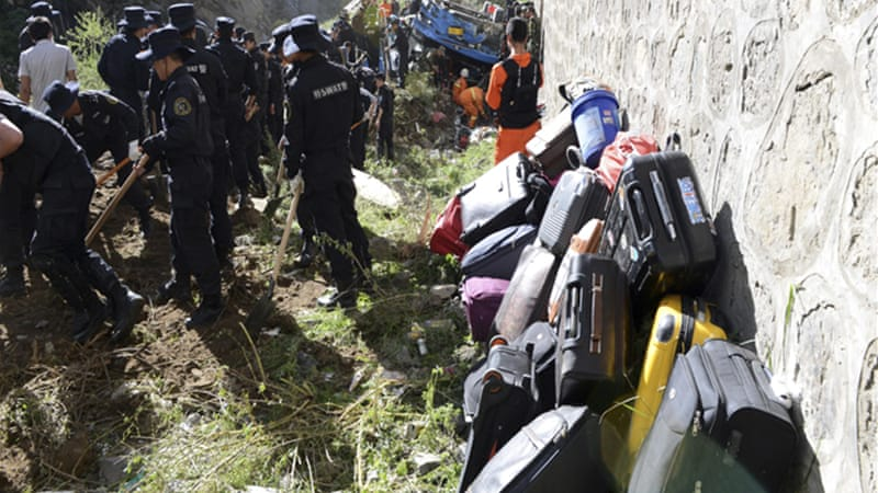 The managers of a travel agency and vehicle tour company were blamed for the crash [AP/Xinhua, Chogo]