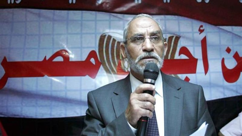 Badie had already received a confirmed death sentence in a separate case along with 182 supporters [EPA]