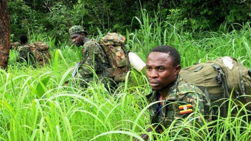 The Ugandan army is leading a US-backed African Union force tasked with capturing the LRA's leaders [AFP]