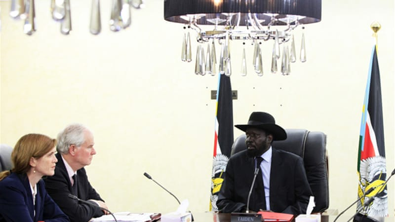 US ambassador to the UN Samantha Power met with President Salva Kiir [Reuters]