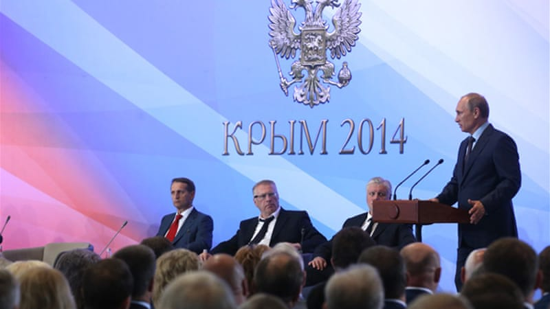 Russia annexed Crimea in March 2014  [EPA]