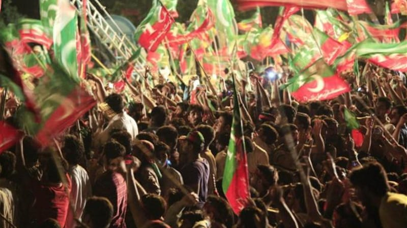 Imran Khan has said his supporters will enter the Red Zone no matter what the cost [AP]
