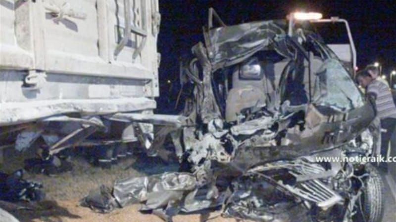 The pope's relatives were killed when their car hit a lorry [EPA]
