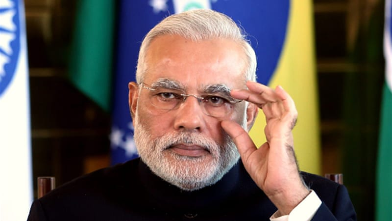 "Modi has said that the two nations could ""upgrade"" their relations in the fields of defence and security [EPA]"