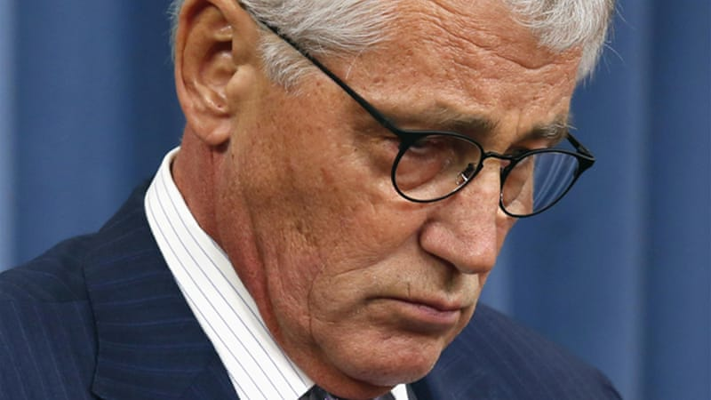 "Hagel unveiled an ""action plan"" that calls for making the nuclear force a higher priority [Reuters]"