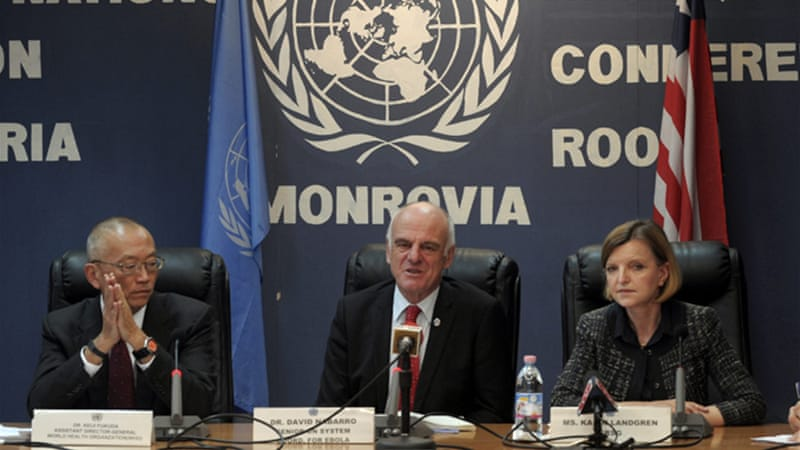 David Nabarro of the UN says WHO has a new plan to fight Ebola [Reuters]