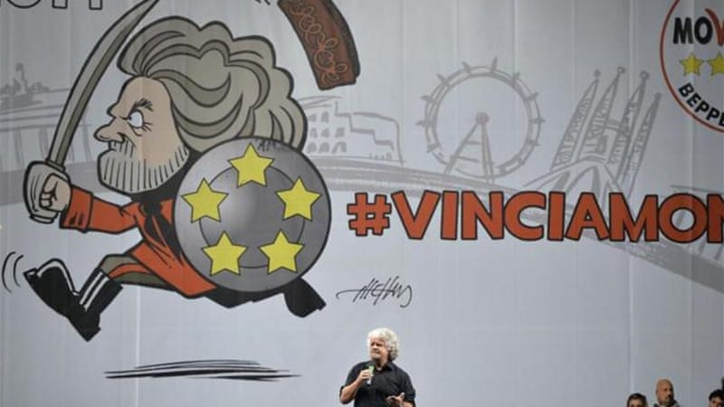 Beppe Grillo founded the anti-establishment Five Star Movement in 2009 [AFP]