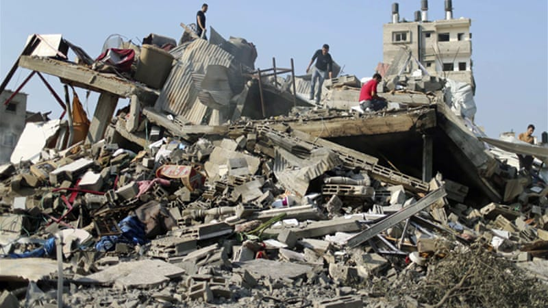 The Israeli military launched several morning air strikes on central Gaza, killing at least seven [Reuters]