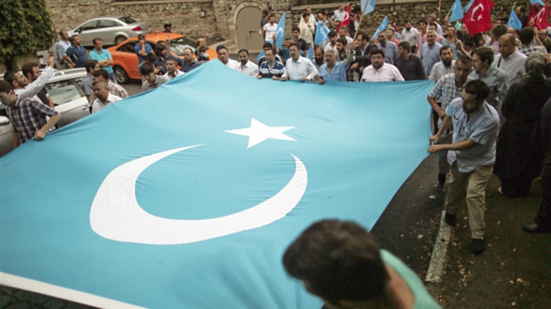 China claims that the Uighur minority group is seeking to establish an independent state called East Turkestan [AP]