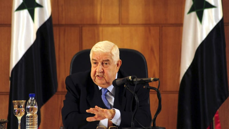 Muallem said Syria must be involved in co-ordinating any air strikes against the Islamic State in Syria [AP]