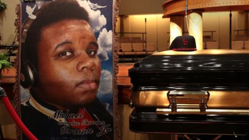 Michael Brown's death caused protests and sparked debate about the treatment of minorities by the police [AP]