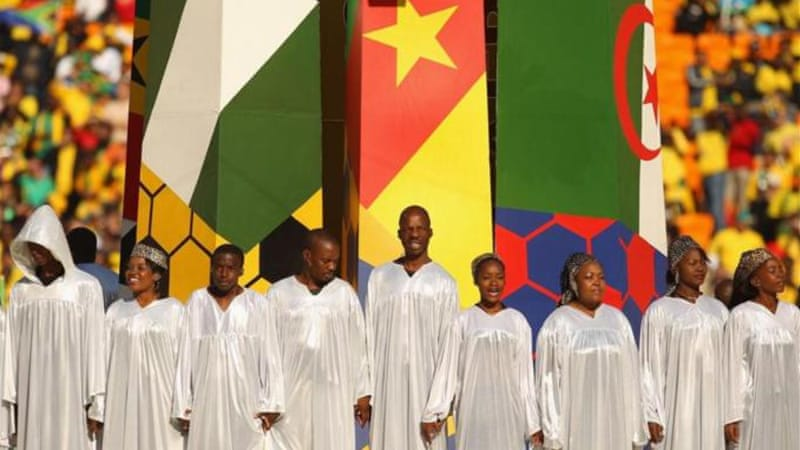 Many gospel choirs like the Soweto Spiritual emerged from South Africa's townships [Getty Images]